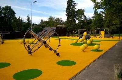 Bērnu rotaļu laukuma (12+ gadi) izbūve Estrādes parkā, Kuldīgas pilsētā