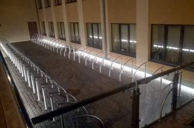 Velosipēdu novietnes izveide pie Ventspils augstskolas Inženieru ielā 101, Ventspilī