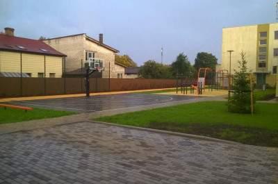 Ventspils 1.pamatskolas iekšpagalma teritorijas pārbūve Pļavas ielā 27, Ventspilī